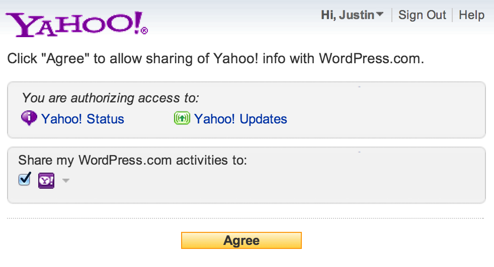 yahoo spp setting for jetpack publicize